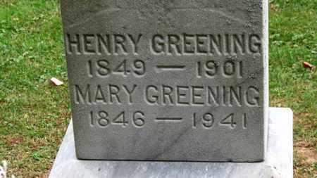 GREENING, HENRY - Erie County, Ohio | HENRY GREENING - Ohio Gravestone Photos