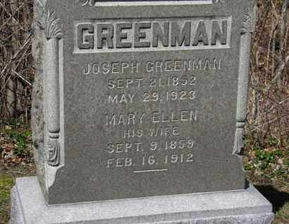 GREENMAN, JOSEPH - Erie County, Ohio | JOSEPH GREENMAN - Ohio Gravestone Photos