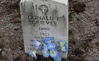 GRIEVES, DONALD F. - Erie County, Ohio   DONALD F. GRIEVES - Ohio Gravestone Photos