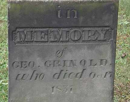 GRINOLD, GEO. - Erie County, Ohio   GEO. GRINOLD - Ohio Gravestone Photos