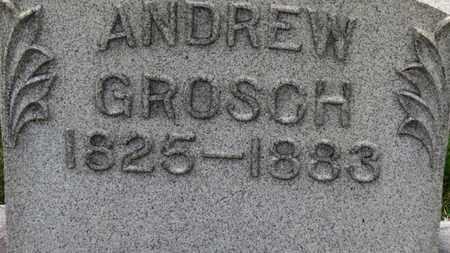 GROSCH, ANDREW - Erie County, Ohio | ANDREW GROSCH - Ohio Gravestone Photos