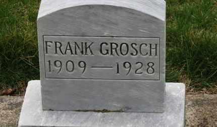 GROSCH, FRANK - Erie County, Ohio | FRANK GROSCH - Ohio Gravestone Photos