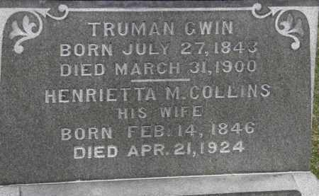GWIN, TRUMAN - Erie County, Ohio | TRUMAN GWIN - Ohio Gravestone Photos