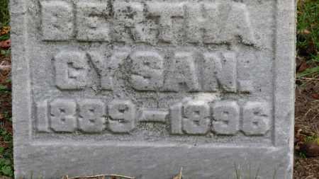 GYSAN, BERTHA - Erie County, Ohio | BERTHA GYSAN - Ohio Gravestone Photos