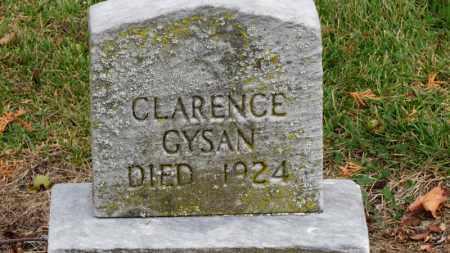GYSAN, CLARENCE - Erie County, Ohio   CLARENCE GYSAN - Ohio Gravestone Photos