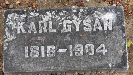 GYSAN, KARL - Erie County, Ohio   KARL GYSAN - Ohio Gravestone Photos