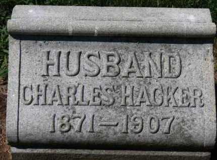 HACKER, CHARLES - Erie County, Ohio   CHARLES HACKER - Ohio Gravestone Photos