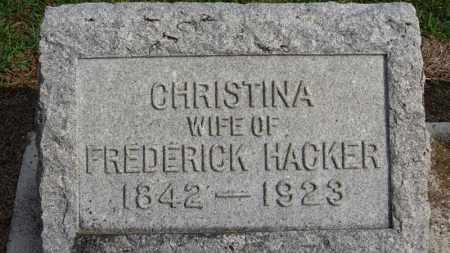 HACKER, CHRISTINA - Erie County, Ohio   CHRISTINA HACKER - Ohio Gravestone Photos