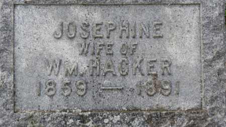 HACKER, JOSEPHINE - Erie County, Ohio | JOSEPHINE HACKER - Ohio Gravestone Photos