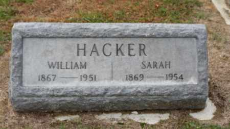 HACKER, SARAH - Erie County, Ohio | SARAH HACKER - Ohio Gravestone Photos