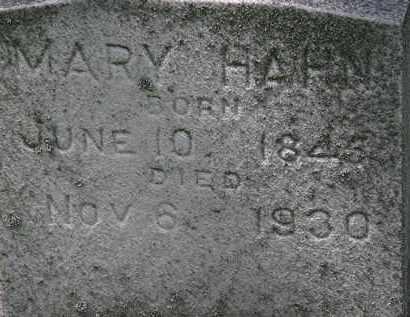 HAHN, MARY - Erie County, Ohio | MARY HAHN - Ohio Gravestone Photos