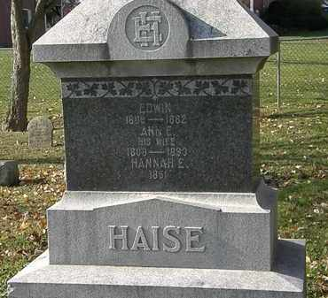 HAISE, HANNAH E. - Erie County, Ohio | HANNAH E. HAISE - Ohio Gravestone Photos
