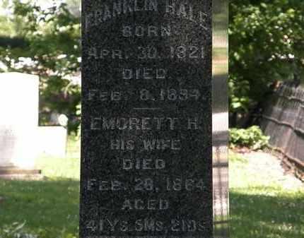 HALE, FRANKLIN - Erie County, Ohio | FRANKLIN HALE - Ohio Gravestone Photos