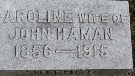 HAMAN, CAROLINE - Erie County, Ohio | CAROLINE HAMAN - Ohio Gravestone Photos