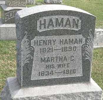 HAMAN, MARTHA C. - Erie County, Ohio | MARTHA C. HAMAN - Ohio Gravestone Photos