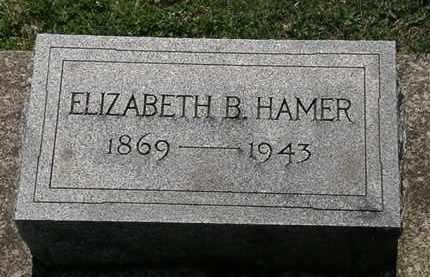 HAMER, ELIZABETH B. - Erie County, Ohio | ELIZABETH B. HAMER - Ohio Gravestone Photos