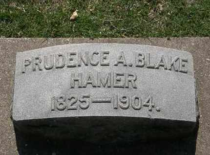 BLAKE HAMER, PRUDENCE A. - Erie County, Ohio   PRUDENCE A. BLAKE HAMER - Ohio Gravestone Photos
