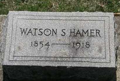 HAMER, WATSON S. - Erie County, Ohio   WATSON S. HAMER - Ohio Gravestone Photos