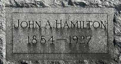HAMILTON, JOHN A. - Erie County, Ohio   JOHN A. HAMILTON - Ohio Gravestone Photos