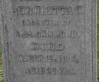 HAMMOND, A. - Erie County, Ohio | A. HAMMOND - Ohio Gravestone Photos