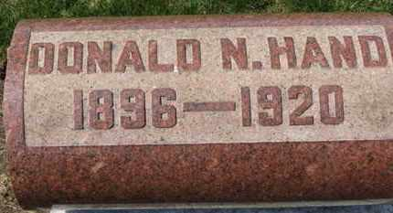 HAND, DONALD N. - Erie County, Ohio | DONALD N. HAND - Ohio Gravestone Photos