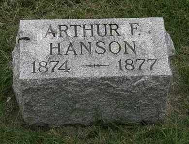 HANSON, ARTHUR F. - Erie County, Ohio   ARTHUR F. HANSON - Ohio Gravestone Photos