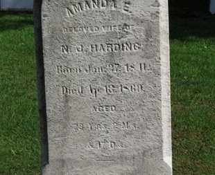 HARDING, AMANDA E. - Erie County, Ohio | AMANDA E. HARDING - Ohio Gravestone Photos