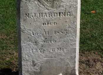 HARDING, N.J. - Erie County, Ohio | N.J. HARDING - Ohio Gravestone Photos