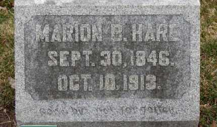 HARE, MARION B. - Erie County, Ohio | MARION B. HARE - Ohio Gravestone Photos