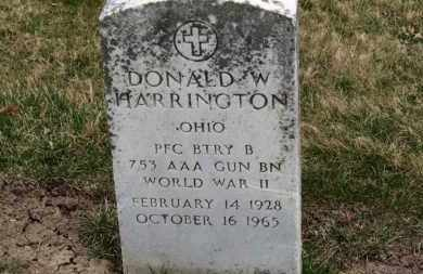 HARRINGTON, DONALD W. - Erie County, Ohio   DONALD W. HARRINGTON - Ohio Gravestone Photos