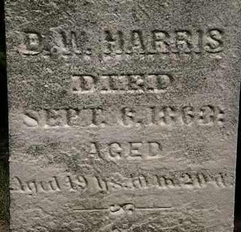 HARRIS, D.W. - Erie County, Ohio | D.W. HARRIS - Ohio Gravestone Photos