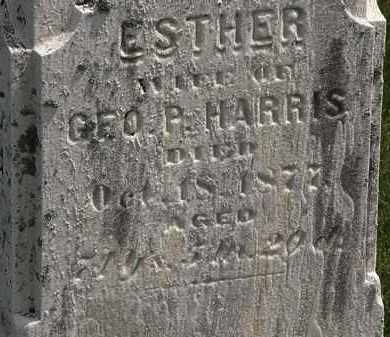 HARRIS, ESTHER - Erie County, Ohio   ESTHER HARRIS - Ohio Gravestone Photos