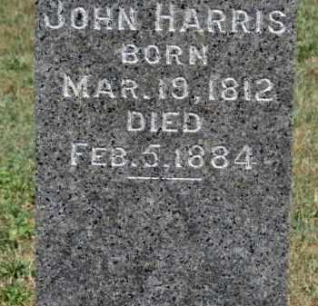 HARRIS, JOHN - Erie County, Ohio | JOHN HARRIS - Ohio Gravestone Photos
