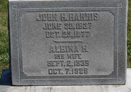 HARRIS, JOHN H. - Erie County, Ohio | JOHN H. HARRIS - Ohio Gravestone Photos