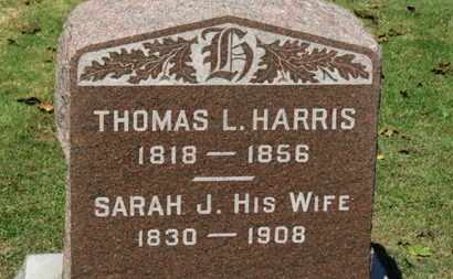 HARRIS, SARAH J. - Erie County, Ohio | SARAH J. HARRIS - Ohio Gravestone Photos