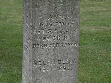 DEELY, HELEN - Erie County, Ohio | HELEN DEELY - Ohio Gravestone Photos