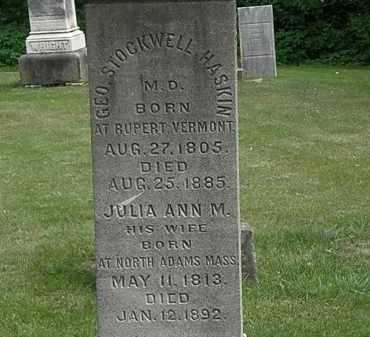 HASKINS, GEO. STOCKWELL - Erie County, Ohio | GEO. STOCKWELL HASKINS - Ohio Gravestone Photos