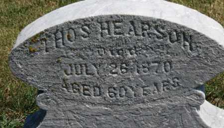 HEARSON, THOS. - Erie County, Ohio | THOS. HEARSON - Ohio Gravestone Photos