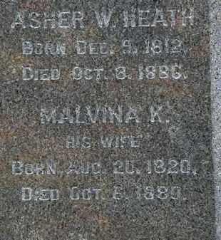 HEATH, ASHER W. - Erie County, Ohio | ASHER W. HEATH - Ohio Gravestone Photos