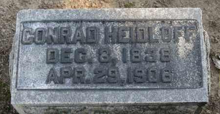HEIDLOFF, CONRAD - Erie County, Ohio | CONRAD HEIDLOFF - Ohio Gravestone Photos