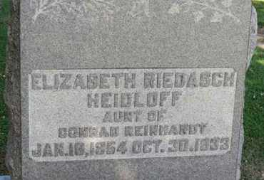 HEIDLOFF, ELIZABETH - Erie County, Ohio | ELIZABETH HEIDLOFF - Ohio Gravestone Photos
