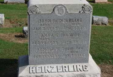 HEINZERLING, ANNA E. - Erie County, Ohio | ANNA E. HEINZERLING - Ohio Gravestone Photos