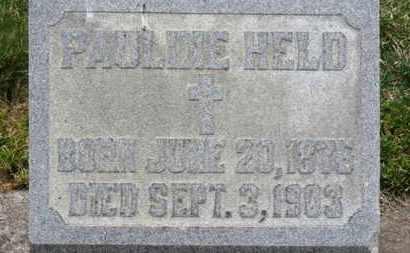 HELD, PAULINE - Erie County, Ohio   PAULINE HELD - Ohio Gravestone Photos