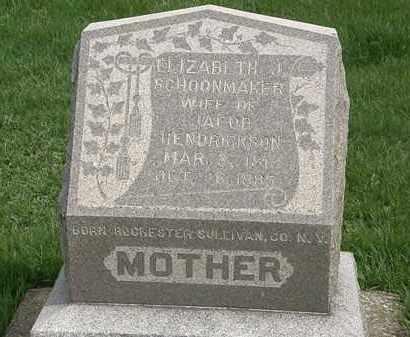 HENDRICKSON, ELIZABETH J. - Erie County, Ohio | ELIZABETH J. HENDRICKSON - Ohio Gravestone Photos
