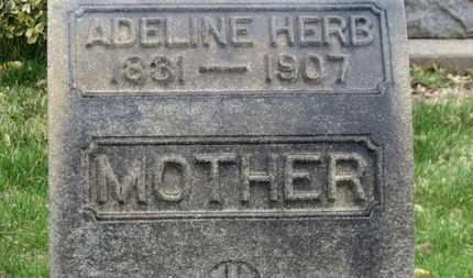 HERB, ADELINE - Erie County, Ohio | ADELINE HERB - Ohio Gravestone Photos
