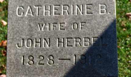 HERBEL, CATHERINE B. - Erie County, Ohio | CATHERINE B. HERBEL - Ohio Gravestone Photos