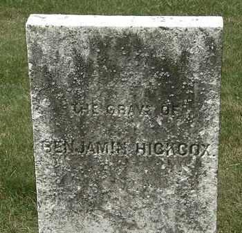 HICKCOX, BENJAMIN - Erie County, Ohio | BENJAMIN HICKCOX - Ohio Gravestone Photos