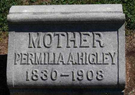 HIGLEY, PERMILLA A. - Erie County, Ohio   PERMILLA A. HIGLEY - Ohio Gravestone Photos