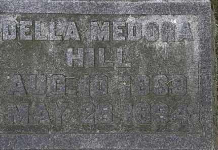 HILL, DELLA MEDORA - Erie County, Ohio | DELLA MEDORA HILL - Ohio Gravestone Photos