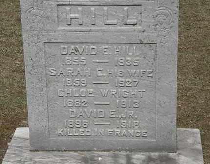 HILL, SARAH E. - Erie County, Ohio | SARAH E. HILL - Ohio Gravestone Photos